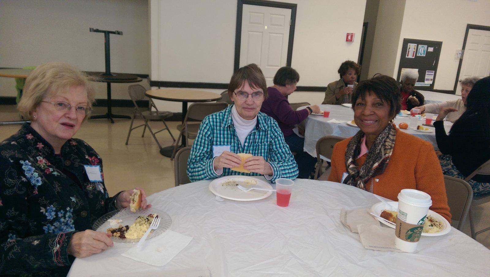 October 2014, Senior Lunch Gathering