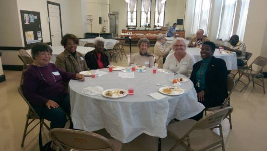 October 2014, Senior Lunch Gathering